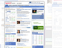 Yahoo! Finance front page