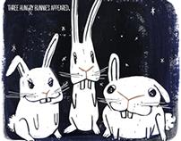 Three Hungry Bunnies