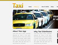 Taxi app  website design