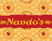 Nando's packaging illustration