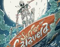 Surfer Calavera