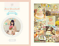 Sweet 17th Album Design, photo by HOP