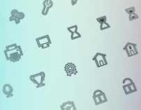 Double Lined Icon Set