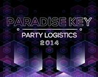 """PARADISE KEY """"Party Logistics"""""""