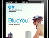 Blue Cross Blue Shield mobile app concept