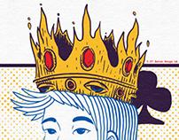 "KISHI BASHI ""Ambigram King Tour Poster"""