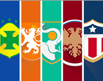 2014 FIFA World Cup: Flat Design Shields