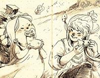 Little doodled narrative