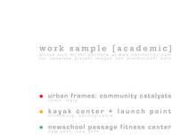 Work Sample [academic]