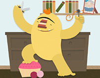 Character Design - Cutie cuty cut