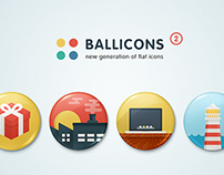 Ballicons 2 — passionate set of flat icons in two style
