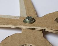 Cardboard models (hand made)