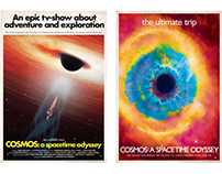 'Cosmos: a spacetime odyssey' tribute posters