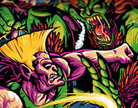 HS - Street Fighter2 T-Shirt Illustration