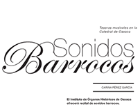 """Propuestas Editoriales """"Sonidos Barrocos"""""""