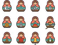 Sew Matryoshkas Icons