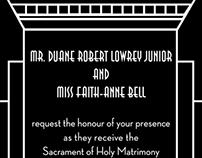 Art Deco Wedding Invitation / RSVP