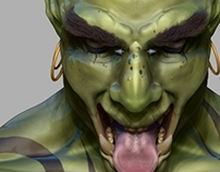 Learning Zbrush - The Screaming Ogre