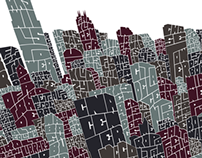 Chicago Typography Aerial Skyline