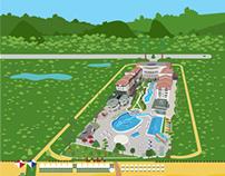 BARUT Hotels Map Design (Vector)