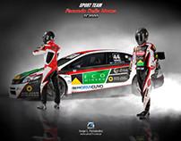 TC2000 Car/Driver Racing Image Design