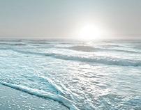 Sea, morning. (Music)