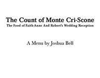 Book-Themed Wedding Reception - Menu