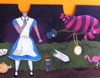 Alice in Wonderland Shadowboard