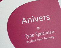 Anivers - Type specimen booklet
