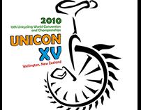 Unicon 15 world unicycling championships logo