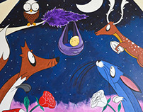 Sweet Dreams woodland Mural