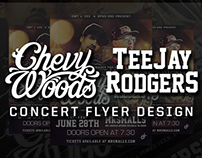 Chevy Woods & TeeJay Rodgers Concert Flyer