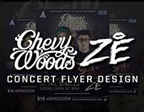 Chevy Woods & Ze Martinez Concert Flyer