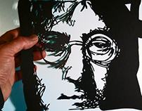 Hand cut Paper Art works. Portraits