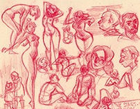 Assorted Sketch Pages:  Winter 2013 - Spring 2014