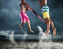 Stormy Beach Volleyball