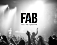 FIRST ARTIST BANK logo contest entry