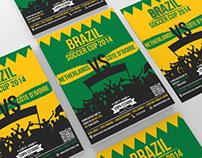Brazil Soccer Cup 2014 Match Flyer
