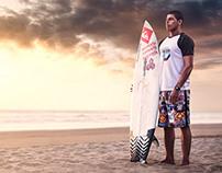 Portrait of ecuadorians Prosurfer Jonatan Chila