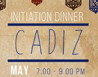 AKPsi Initiation Dinner Invitation