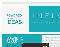Quartet Glass Boards Web / Staples