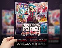 Freak Show Party Flyer