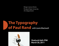 The Typography of Paul Rand Poster