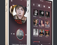 Music Player IOS 7 Free PSD Download Link