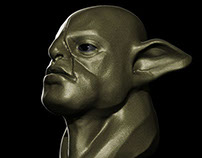 ORC HEAD BUST WIP