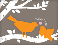 """Little Birdie"" Baby Shower Invite"