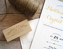 Crystal & Matt Wedding Invitations