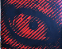 Alpha Wolf - Halftone Stencil