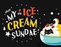 Draw My Dream Ice Cream Sundae
