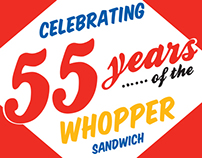 whopper's 55th anniversary